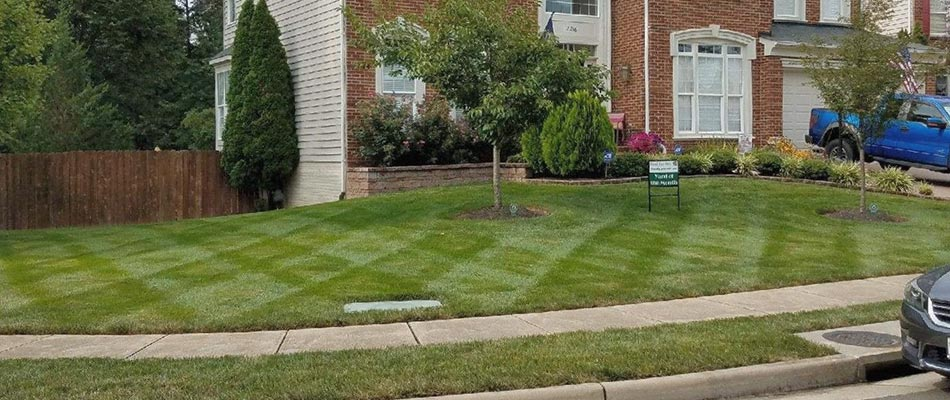 The home in this photo belongs to our newest lawn mowing customer in Haymarket.