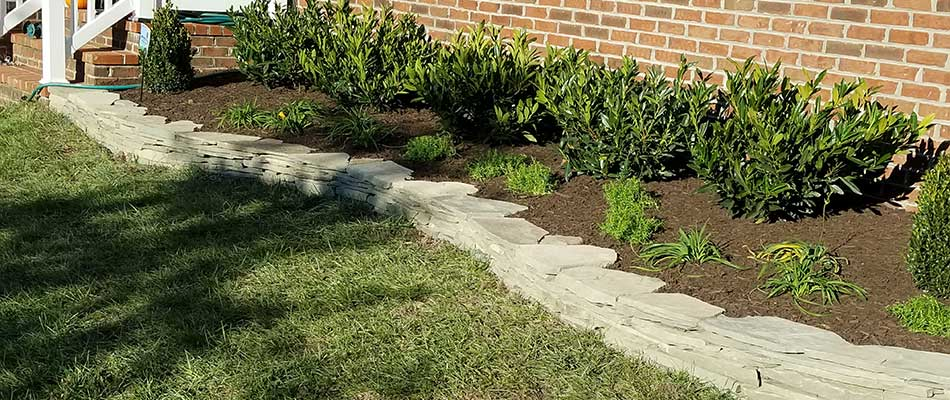 A landscape bed installed at a Bristow, VA home.